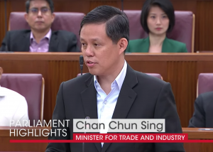 Chan Chun Sing comment in Singapore Parliament